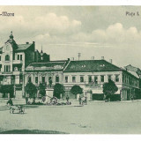 1320 - Satu Mare, Market Bratianu - old postcard - unused - 1925