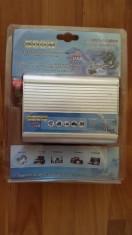 Invertor convertor auto 12v 220v 500w foto