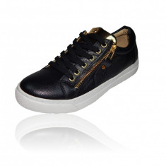 Adidasi pantofi sport dama gen Zanotti. LICHIDARE DE STOC! MEGA REDUCERE! - Adidasi dama, Culoare: Negru, Marime: 36, 37, 38, 39, 40