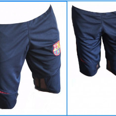 Pantaloni scurti - 3/4- Bermude - FC Barcelona - Logo brodat - Pret special - - Bermude barbati, Marime: S, XL, Culoare: Bleumarin
