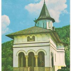 % carte postala (marca fixa)-SAMBATA DE SUS-Manastirea C Brancoveanu - Carte postala tematica, Circulata, Printata