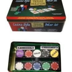 Casino Style Texas Holdem Poker Set - Jocuri Board games