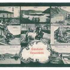 572 - ORSOVA - old postcard - used - 1909 - Carte Postala Oltenia 1904-1918, Circulata, Printata