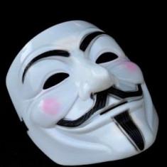 Masca Anonymous, Guy Fawkes, Masti V for Vendetta din Plastic Rezistent, Marime universala