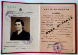 CARTE DE MESTER MODISTA  REGALISTA 1941 **, Romania 1900 - 1950, Documente