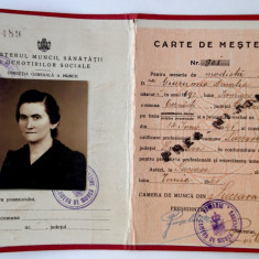 CARTE DE MESTER MODISTA REGALISTA 1941 ** - Pasaport/Document, Romania 1900 - 1950