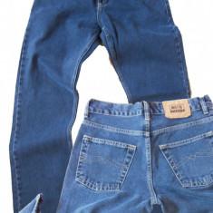 Blugi drepti barbati simpli albastri MOTTO jeans W 30 (Art.031), Albastru
