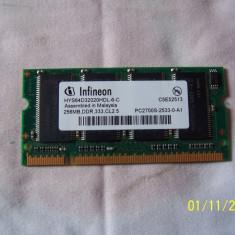 Memorie laptop marca Infineon.256 MB DDR 333Mhz - Memorie RAM laptop