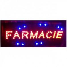 Reclama Luminoasa cu LEDuri Rosii 50x25 cm Farmacie