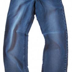 Blugi barbati drepti clasici albastri prespalati MOTTO jeans W 31 (Art.023)
