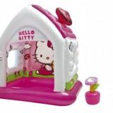 Casuta Gonflabila de Joaca Intex hello kitty cu pompa inclusa