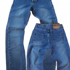 Blugi drepti barbati/copii usor prespalati marime mica MOTTO W 29 (Art.037), Albastru