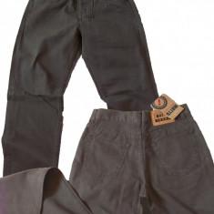 Pantaloni drepti culoarea petrolului eleganti MOTTO jeans W 32 (Art.027), Coffee
