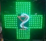 Reclama Luminoasa Cu LEDuri Verzi 48x48 cm Farmacie1