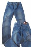 Blugi barbati drepti albastri prespalati aspect vintage MOTTO W 31 (Art.018,019)