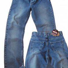 Blugi barbati drepti albastri prespalati aspect vintage MOTTO W 31 (Art.018,019), Albastru