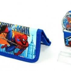 Set ceas de mana si portofel Spiderman - Ceas copii Disney