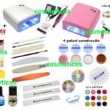 Kit Unghii false Sina - lampa UV, freza, 12 GELURI COLORATE GRATIS - KIT 64 produse