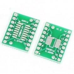 Adaptor SMD to DIP TSSOP16 SSOP16 MSOP16 SO16 SOP16 SOIC16 1.27MM / 0.65MM