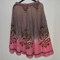 Fusta de panza bumbac 100%, India, marca New Look, Marime 40 (78 cm in talie), Marime: M, Culoare: Din imagine