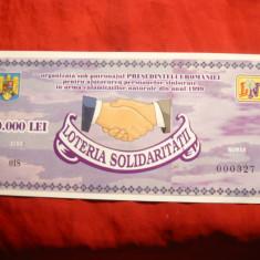 Bilet Loterie - Loteria Solidaritatii - 10 000 lei - 1999 , cal.NC
