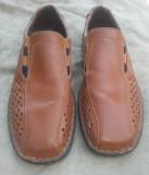 Pantofi de vara din piele Rieker Antistres mar.42 / 26.5cm, Maro, Piele naturala