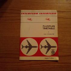 INTERFLUG * German Democratic Republic Airline - FLGPLAN TIMETABLE -  1969
