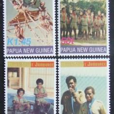 PAPUA NOUA GUINEE - CERCETASI  4 VALORI, NEOBLITERATE - PNG 097