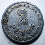 B.793 PARAGUAY 2 PESOS 1938, America Centrala si de Sud, Aluminiu
