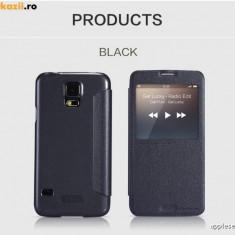 Husa Samsung Galaxy S5 G900 S-VIEW Sparkle by Nillkin Black - Husa Telefon Samsung, Negru, Cu clapeta, Toc