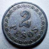 B.808 PARAGUAY 2 PESOS 1938, America Centrala si de Sud, Aluminiu