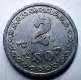 B.790 PARAGUAY 2 PESOS 1938, America Centrala si de Sud, Aluminiu