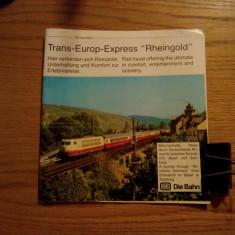"TRANS - EUROP - EXPRES ""Rheingold"" - catalog de prezentare, 35 p., lb. germana - Carti Transporturi"