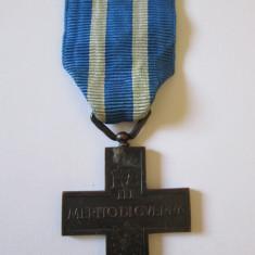 MEDALIA CRUCEA MERITUL MILITAR WW II ITALIA REGELE VICTOR EMANUEL III, Europa, An: 1918