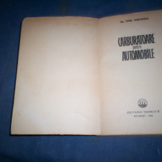 CARBURATOARE PENTRU AUTOMOBILE - VIRGIL DUMITRESCU, Alta editura