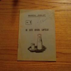 """CE ESTE OFICIUL LAPTELUI -  Colectia """"Odelap"""" Nr. 1 - 24 p."""
