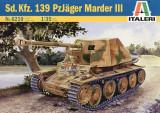 + Macheta 1/35 Italeri 6210 - Sd.Kfz.139 Panzerjager Marder III +