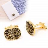 Butoni eleganti aurii model clasic + ambalaj cadou, Inox