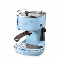 Espressor DeLonghi ECOV310BG Vintage Icona - Albastru - Reducere 565 RON (47%) - Espressor Manual Delonghi, Cafea macinata, 15 bar, 1 l, 1100 W
