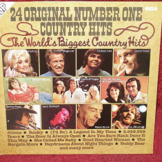 24 Original No.1 Country Hits (2 x LP 1977, RCA) Disc vinil dublu, tracklist - Muzica Country
