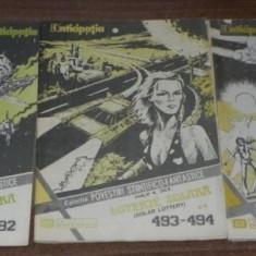 3 REVISTE (5 NUMERE) CPSF ANTICIPATIA COLECTIA DE POVESTIRI STIINTIFICO-FANTASTICE NR 492-496 - romanul - LOTERIE SOLARA DE PHILIP K DICK etc - Carte SF