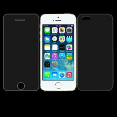 Geam iPhone 6 6S Fata Spate Tempered Glass 0.3mm - Folie de protectie Apple, Lucioasa