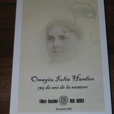 OMAGIU IULIA HASDEU 135 DE ANI DE LA NASTERE
