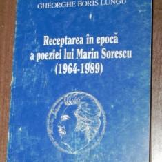 GHEORGHE BORIS LUNGU RECEPTAREA IN EPOCA A POEZIEI LUI MARIN SORESCU (1964-1989)