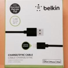 Cablu de date iPhone 6, 5, 5S, 5C, iPad Air, mini, 4 Original Belkin