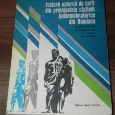 FACTORII NATURALI DE CURA DIN PRINCIPALELE STATIUNI BALNEOCLIMATICE DIN ROMANIA