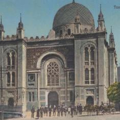 ROMANIA, CARTE POSTALA, CERNAUTI-TEMPLU EVREESC - Carte Postala Bucovina 1904-1918, Necirculata, Printata