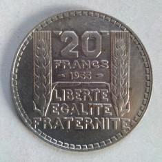 Moneda argint Franta - 20 franci / francs 1933, Europa