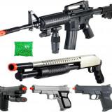SUPER SET 5 ARME AIRSOFT 6mm +2000 BILE BONUS,DISTRACTIE MAXIMA,TINTE LASER.