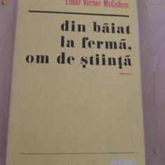 ELEMER V MC COLLUM - DIN BAIAT LA FERMA OM DE STIINTA - Biografie
